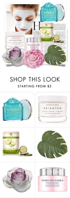"""Untitled #56"" by ntone3 ❤ liked on Polyvore featuring beauty, Peter Thomas Roth, Herbivore, BioRepublic, Pier 1 Imports, Daum, Lancôme, Ballard Designs and facemasks"