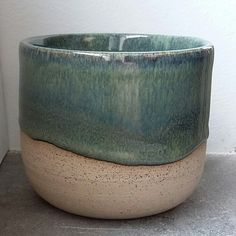 triskelpottery - Amaco potter's choice blue midnight over lustrous jade
