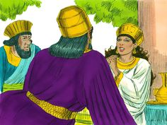 As they were drinking wine, the King asked, 'What is it your request? Even if is half of my kingdom it will be granted.' 'My request is that you save my life and the lives of my people.' Esther replied. 'We are to be destroyed.' 'Who has dared to threaten your life?' the King demanded to know. – Slide 2