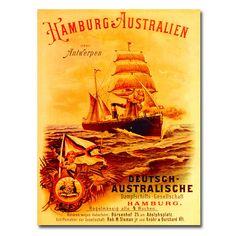 Unknown 'Hamburg-Australia' Art (18 x 24 Wrapped art)