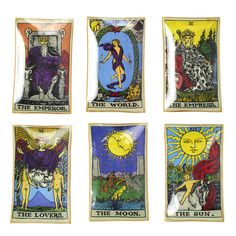 Tarot Card Plates Set Of 6