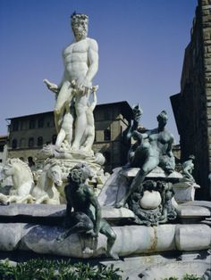 Fountain of Neptune Dating from 1576, in the Piazza Della Signora, Florence