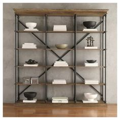 "84"" Belvidere 5 Shelf Wide Bookcase Black - Inspire Q : Target"