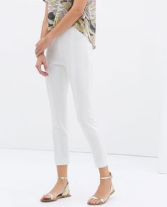 Image 3 of TECHNICAL FABRIC TROUSERS from Zara