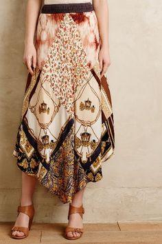 Vintage Scarf Skirt - anthropologie.com #anthrofave