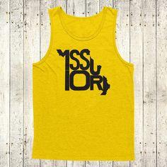 Missouri Stately Tank by The Stately Shirt Co. by TheStatelyShirtCo