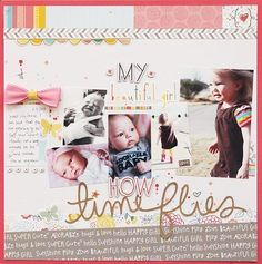 Fabulous layout creation by Becky Williams using our #MyGirl Collection. #papercrafts #scrapbooking