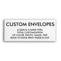 Custom Personalized #9 Envelope Blank Template - create your own gifts personalize cyo custom