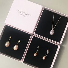 Pearl earrings and pearl necklaces: Beautiful baroque pearl jewelry and gold plated hoops by Mermaid Stories, Copenhagen. Pearl Necklaces, Pearl Jewelry, Pearl Earrings, Mermaid Stories, Baroque Pearls, Watch Brands, Copenhagen, Hair Accessories, Antiques