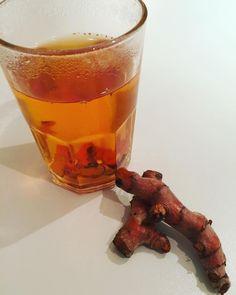 Tumeric thee ook lekker met  #ffietsanders #tumeric ipv #ginger #healthdrink #curcuma #tumerictea #blissfuel