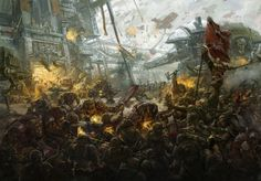 ArtStation - Warhammer Red Waagh! double spread, Fares Maese