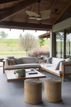 Patio Design, Sofa Design, Exterior Design, House Design, Indoor Outdoor Living, Outdoor Rooms, Outdoor Furniture Sets, Outdoor Decor, Backyard Furniture