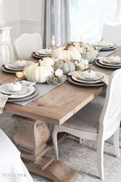 Neutral Thanksgiving Table - Tuft & Trim