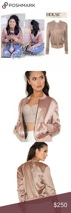 NWT HOUSE OF CB SATIN BOMBER AS SEEN ON KYLIE💕 BRAND NEW WITH TAG!💕  As seen on KYLIE JENNER! This jacket is completely SOLD OUT ONLINE and WILL NOT BE restocked on House of CB!😙  Length: Approx 56cm Gentle Dry Clean only  Measurements:  Bust: 39 - 42 in Waist: 29.5 - 32. 5   Bundle with other cute items from my closet or make an offer😙 House of CB Jackets & Coats