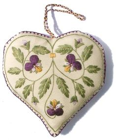 Pansy embroidery kit