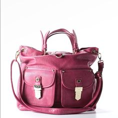 STEVE MADDEN PURSE This is a beautiful addition to any ensemble ...it adds the drop of color just perfect for work or your every day casuals Steve Madden Bags Totes