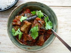 my darling lemon thyme: eggplant curry recipe (and ghee and chickpea curry recipes) Veggie Recipes, Indian Food Recipes, Vegetarian Recipes, Cooking Recipes, Healthy Recipes, Indian Foods, Veggie Meals, Vegetable Dishes, Clean Recipes