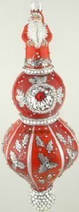 Patricia Breen Winterberry Santa Red  W/ Silver Holly 2015