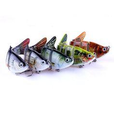 Laimeng 5PCs Wobblers Laser Minnow Fishing Lures Crank Bait Hooks Bass Tackle: http://amzn.to/2t6XPih