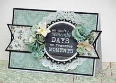I continue to work with KaiserCraft Blue Bay collection. Today I have two very differe. Shabby Chic Cards, Spellbinders Cards, Beautiful Handmade Cards, Easel Cards, Card Making Inspiration, Vintage Cards, Cardmaking, Birthday Cards, Paper Crafts