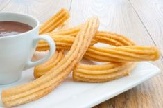 Churros stove recipe – About Sweets Food N, Diy Food, Food And Drink, Easy Sweets, Easy Desserts, Beignets, Churros Sin Gluten, Cute Food, Good Food