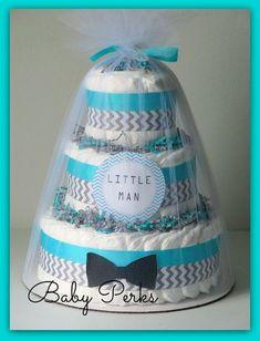 Mustache Little Man Baby Shower Little Man Diaper Cake by MsPerks