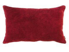 Coussin déhoussable uni 100% coton velours côtelé rayure double face LISETTE