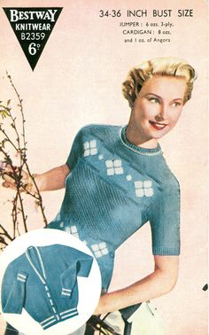 knit womenswear, french 1950s, knit obsess, fabul fiber, vintag knit, 1950s librarian, 40s cloth