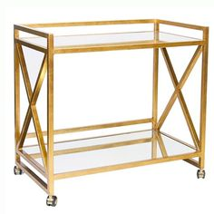 I'm looking for a bar cart. This is rather charming.