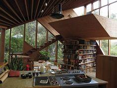 Asymmetrical Walstrom House by John Lautner 1