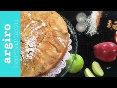 Ανάποδη μηλόπιτα με καραμελωμένα μήλα από την Αργυρώ Μπαρμπαρίγου | Από τις πιο ωραίες μηλόπιτες, εύκολη, με αφράτη ζύμη. Σερβίρετέ την ζεστή με παγωτό! Hot Dog Buns, Hot Dogs, Desserts, Recipes, Food, Breads, Cakes, Random, Youtube