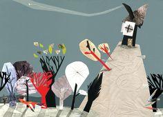 Blanca Helga  «Me considero una constructora de pequeños munditos»   Sus collages están cargados de sensibilidad, observa  la delicada  combinación de papeles de diferente naturaleza y textura para crear personajes tiernos y con un cierto carácter  infantil.   http://mcarmenepv.blogspot.com.es/2011_05_01_archive.html