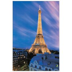 TOUR EIFFEL - Eiffel Tower At Dusk 60x90 cm #artprints #interior #design #art #prints #fotografie #photos  Scopri Descrizione e Prezzo http://www.artopweb.com/categorie/fotografie/EC21946