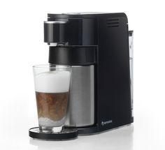 Met één druk op de knop warm of koud melkschuim of warme melk voor een heerlijke cappuccino, latte macchiato, koffie verkeerd of een beker warme melk.
