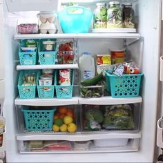 Finding what you're looking for in your fridge can be a bit more of a challenge than you'd like to admit. It's time to get that fridge organized cheaply and efficiently! Use dollar store finds such as paper files, placemats, baskets, a dish pan, and more to organize your refrigerator.
