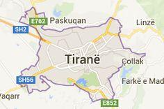 Map of tirana albania