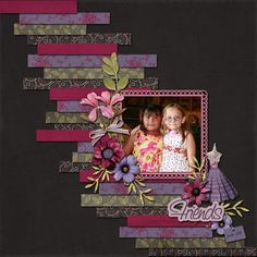 Ideas for Scrapbookers: Create a background from Strips of paper!