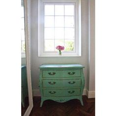 Sea Shore Distressed Chest of Drawers | French Chest. French Shabby Chic Chest