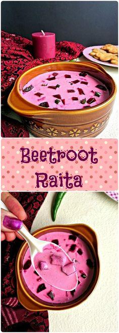 Beetroot Raita Recipe   How to make Beetroot (Chukandar) Raita