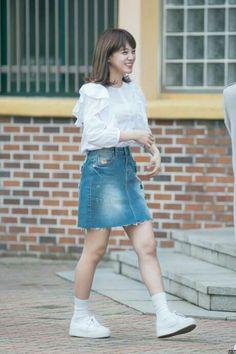 - World Vision's Campaign Kim Sejeong, Ioi, Sehun, Denim Skirt, Girl Group, Campaign, It Cast, Wattpad, Couples