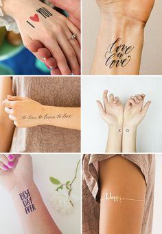 Gorgeous wedding temporary tattoos - perfect as wedding favours! www.onefabday.com