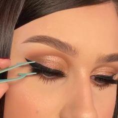 Doll Eye Makeup, Eye Makeup Steps, Skin Makeup, Eyeshadow Makeup, Wedding Makeup For Brown Eyes, Makeup Looks For Brown Eyes, Brown Makeup, Make Up Looks, Casual Eye Makeup