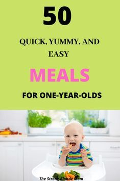 What to feed a one year old: 50 Easy Meal Ideas For One Year Olds. 50 breakfast, lunch, dinner, and snack ideas for one year olds. One Year Old Meal Plan, One Year Old Foods, 1 Year Old Meals, One Year Old Baby, 1 Year Old Meal Ideas, Kid Meals, Easy Toddler Meals, Easy Meals For One, Toddler Food