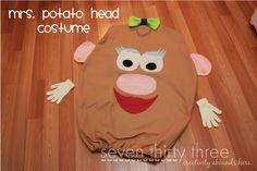 Tutorial: Mr. and Mrs. Potato Head costumes.