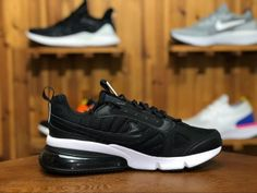 best authentic 96f27 e07d3 Nike Air Max 270 Futura Black White Running Shoes For Sale
