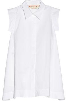 Marni | Cotton-poplin A-line shirt | NET-A-PORTER.COM
