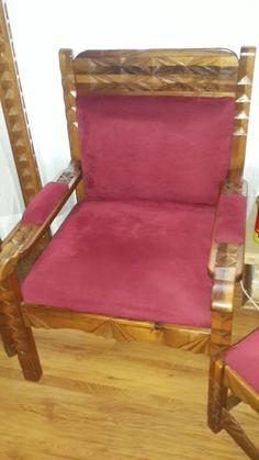 Masif ceviz el oymasi koltuk.  Yapım ve tasarım Ali Gence