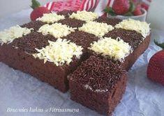 Brownie Recipes, Cake Recipes, Snack Recipes, Snacks, Cake Cookies, Cupcake Cakes, Food Cakes, Brownies Kukus, Resep Cake