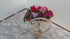 flowered handcart di TheMiniatureTime su Etsy