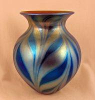 Lundberg Studios Royal Zebra Small Heart Vase